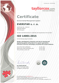 EVERSTAR s.r.o. - ISO 14001:2015